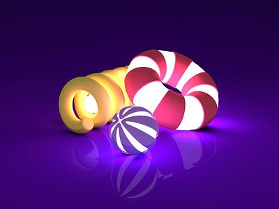 #05 design 3d art 3d objects shapes c4dart spring sphere torus c4d clean