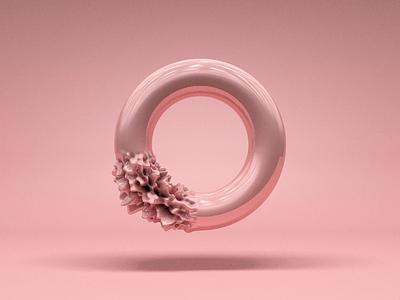 #06 clean animation 3d art design material pink transform sphere c4dart c4d