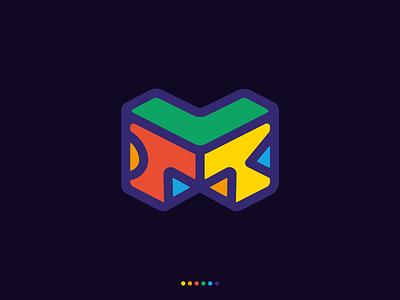 Montessori logo style character colorful symbol montessori logotype vector icon typography clean branding logo
