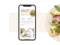 Recipe app screen