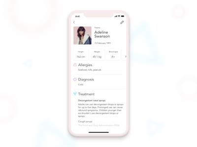 My doctor - Medicine app iphone mobile minimal medicine doctor flat design pink ios clean app