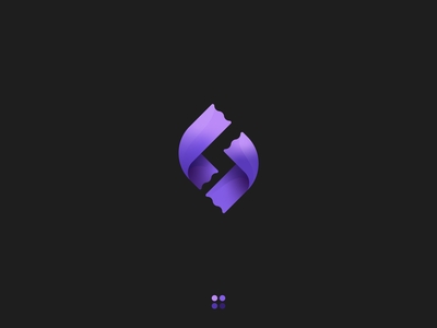Spending   Logo concept ribbon vector black art identity app logotype concept gradient purple icon illustration logo branding design