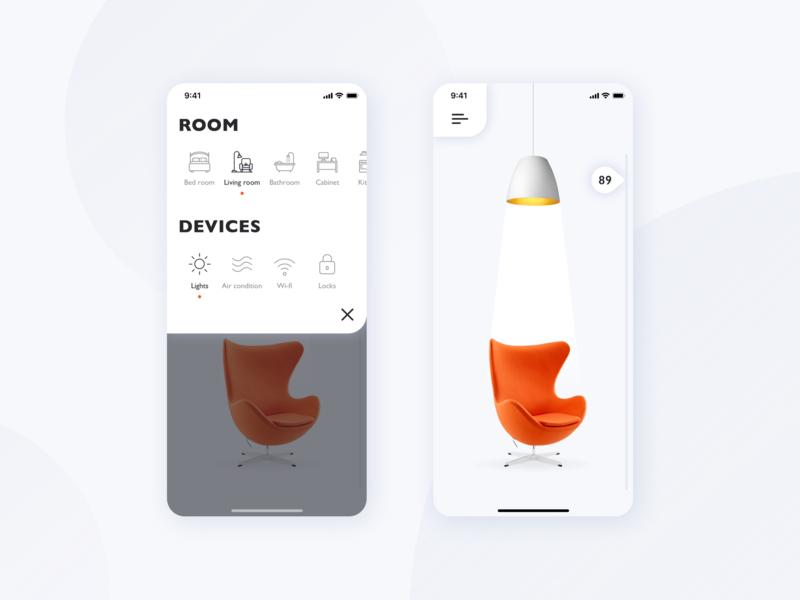 Smart Home mobile clean device settings white control ios home smart smarthome app design ux ui