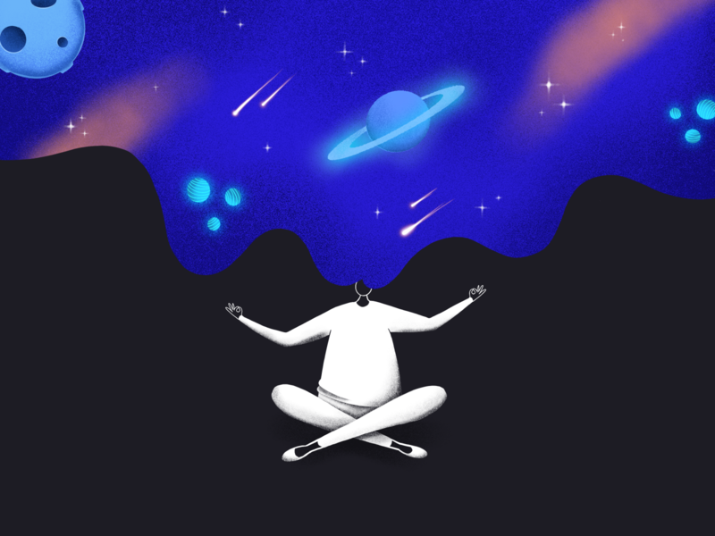 Space illustration cosmos art person people human drawing draw procreateapp procreate space