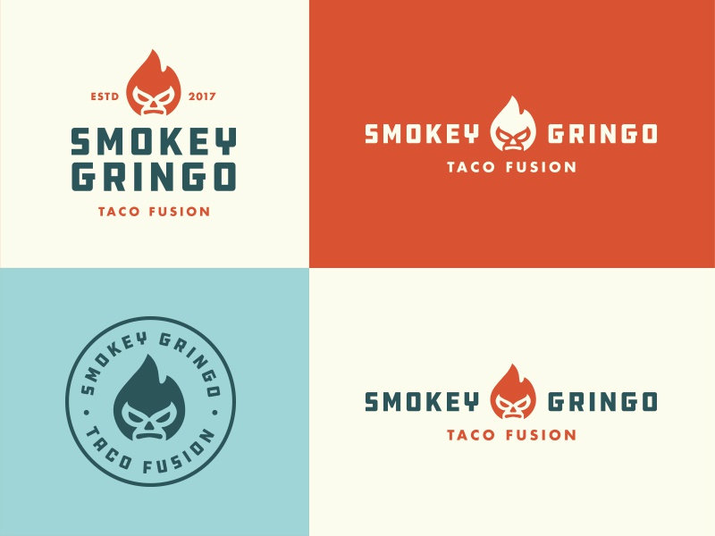 Smokey Gringo Concept futura typography food truck truck food taco mexican restaurant identity logo
