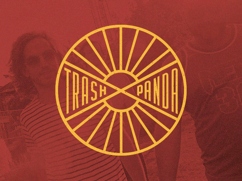 Trash Panda Concept identity atlanta texture vector burst sun emblem logo band