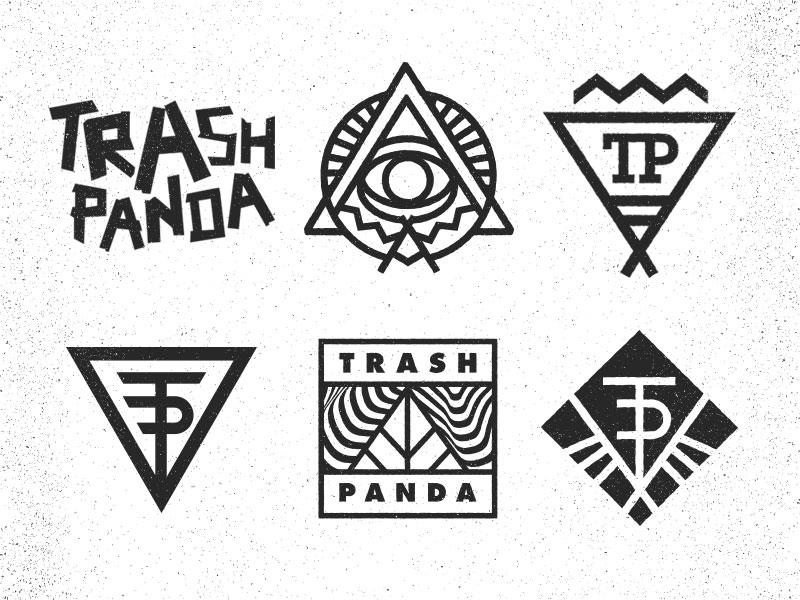 More Trash Panda music identity band logo emblem sun burst vector texture atlanta