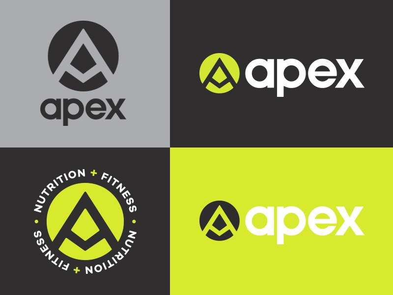 Apex Final diet nutritional nutrition fitness mark icon branding design emblem illustration vector texture identity typography logo