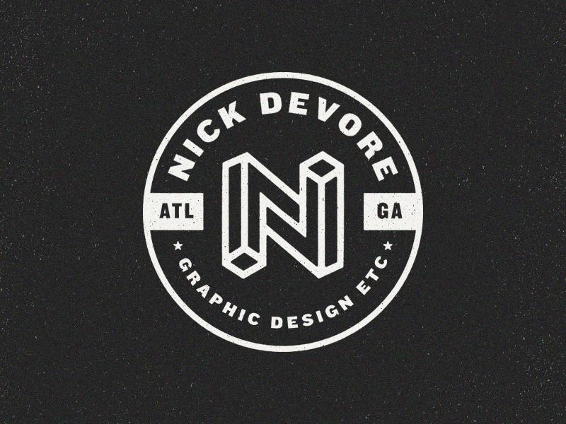 Personal Branding IP branding emblem logo crest type texture emblem vector identity typography logo