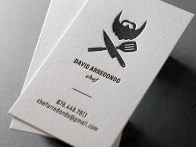 David A: Letterpress Business Card business card identity illustration letterpress