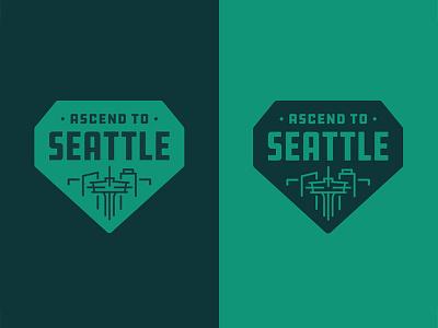 Ascend to Seattle ddc hardware city badge identity vector icon mark type emblem branding illustration typography logo