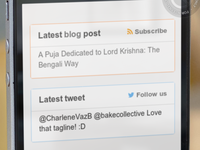 Blog and twitter widget in Milaap footer