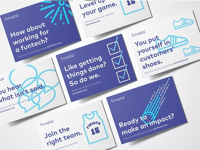 Employer branding postcards