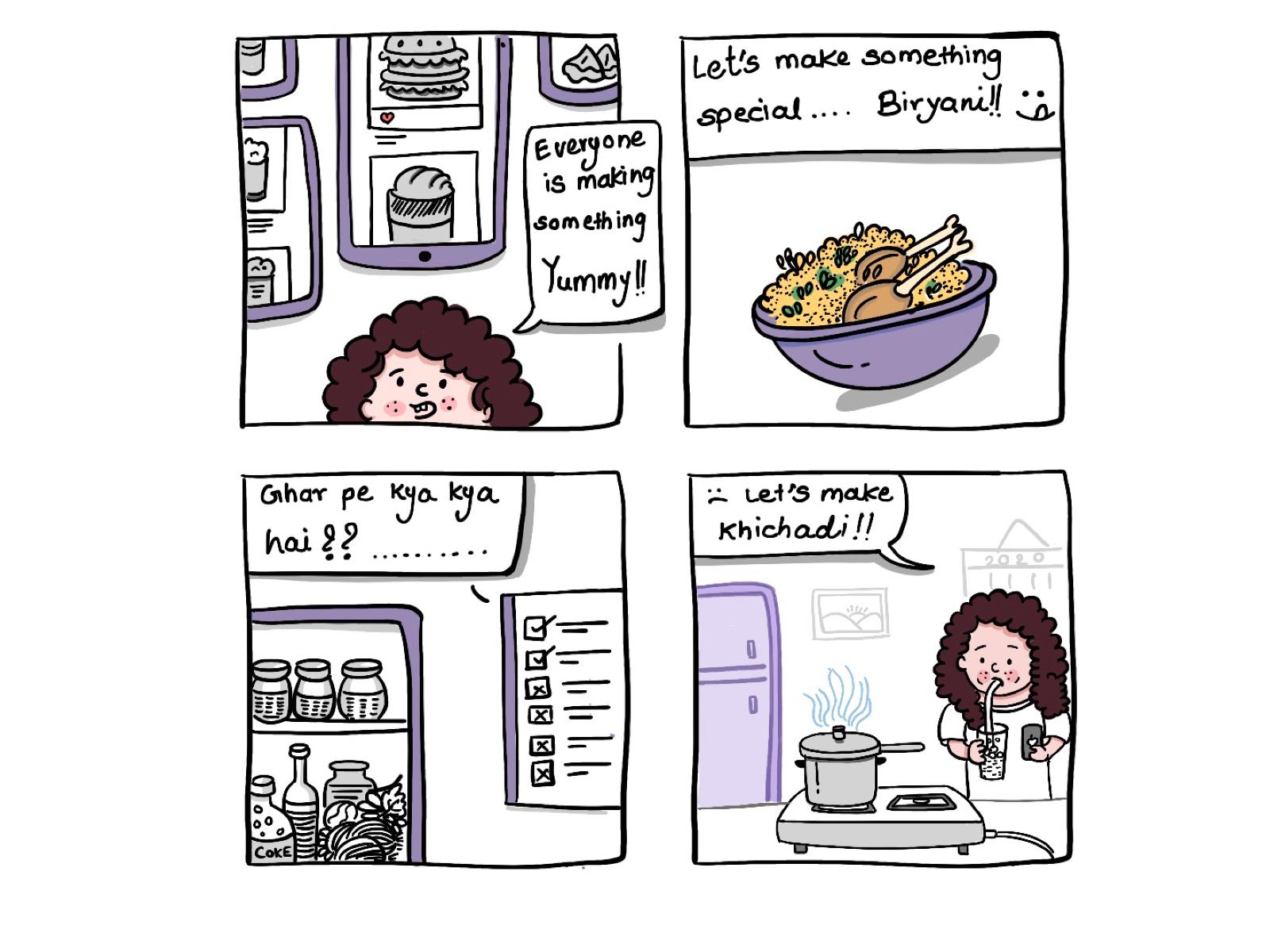 Cooking Comic By Kalyani Dhone On Dribbble