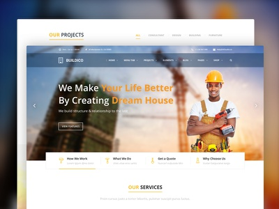 Buildico | Construction Theme ixstudio renovation plumber painter engineer electrician contractor construction company construction business construction building architecture