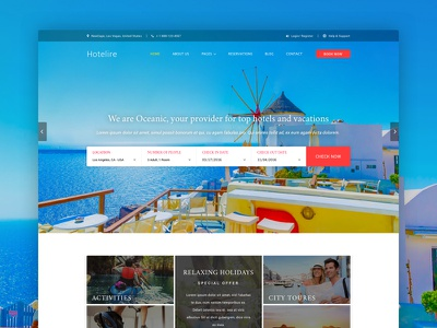 Hotelire | Hotel Booking Template apartment booking holiday hostel hotel hotel template motel reservation rooms travel vacation ixstudio