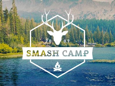 Smash Camp Logo logo camp camping lake summer badge deer