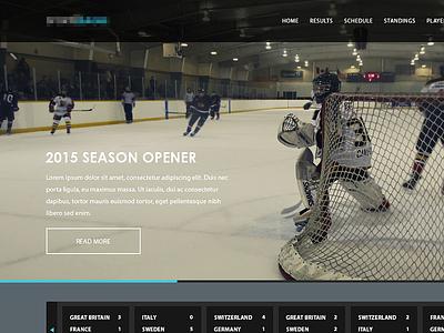 Untitled Sports Management System website ui sports management ice hockey