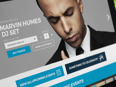 Nightclub Mock-up dj ux ui website