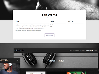 Portfolio Description Page portfolio music design website