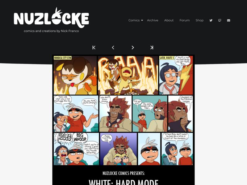 New Nuzlocke Website ui pokemon webcomic design www website
