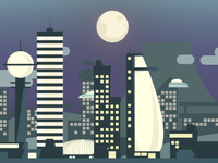 Future City at Night