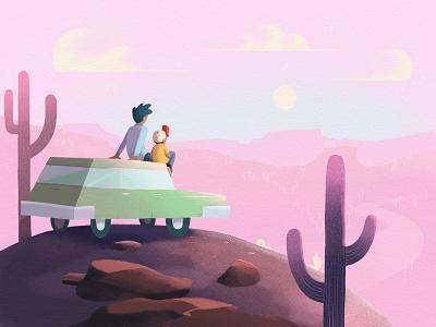 Sonoran Sunrise photoshop digital illustration kid lit art childrens book illustration illustration sonoran desert desert