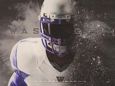 UW Minimalistic Schedule Poster pac 12 husky seattle washington design athletic sports college football