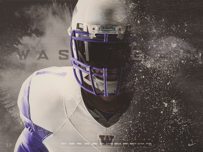 UW Minimalistic Schedule Poster pac 12 husky seattle washington design athletic sports college football