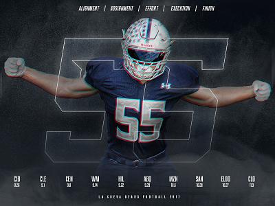 La Cueva Bears   Defensive Poster 2017 print digital social schedule defense pro high school athletics sports design football