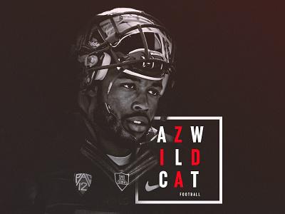 B&W Football Design   AZ Wildcats wildcats arizona black and white minimal athletics sports sport pac-12 design football