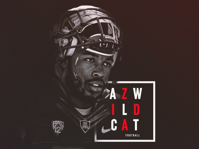B&W Football Design | AZ Wildcats wildcats arizona black and white minimal athletics sports sport pac-12 design football