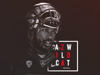 B&W Football Design | AZ Wildcats