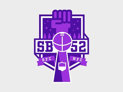 Super Bowl 52 minnesota stars purple illustration athletics sports nfl football super bowl