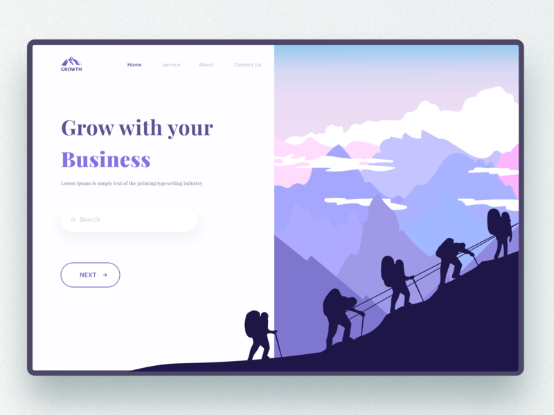 Home Page mountain landingpage homepage logo vector illustration branding ux ui  ux design visual design dribbble visual design