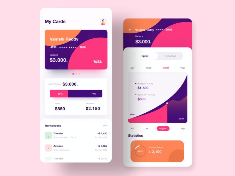 Finance Mobile Banking mobile ui mobile app uxdesign vector communications illustration ui  ux design visual design dribbble visual design