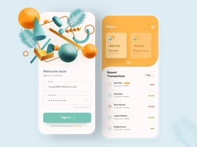 Banking App typography vector branding ui  ux design visual design dribbble visual banking app sketch app illustrator mobile mobile app