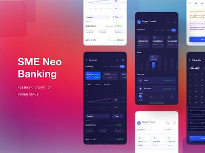 SME Neo Banking App ui vector logo illustration branding ui  ux design visual design design dribbble visual