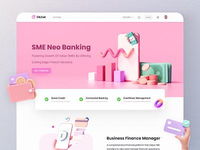 SME Neo Banking Web Page dribbble color finance fintech landing page landing web page web site web analytics ui vector logo illustration branding ui  ux design visual design design dribbble visual