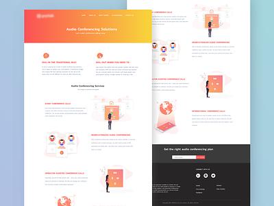 Communications Web Page ux design communications illustration visual design