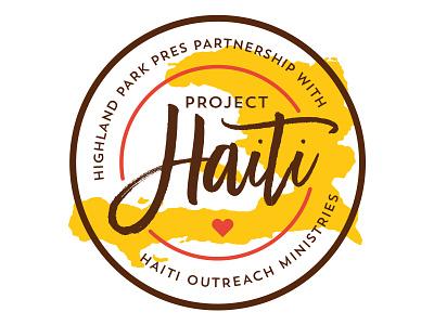 Haiti Logo seal badge madina script script mission trip missions heart haiti logo