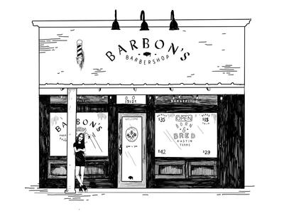 Barbon's Barbershop Storefront