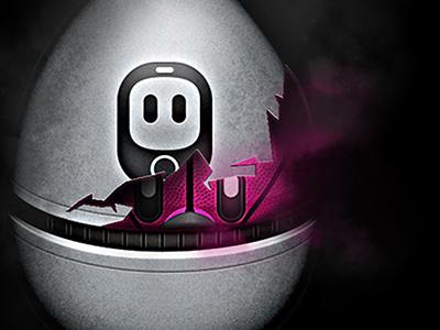 Something Is Hatching shotbot app ios iphone userinterface pink grey tweetbot tapbots