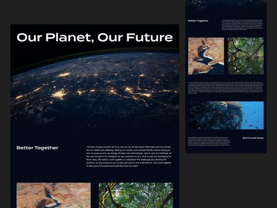 Layout exploration - Earth Day earthday ui design minimal typography layout exploration clean concept layout