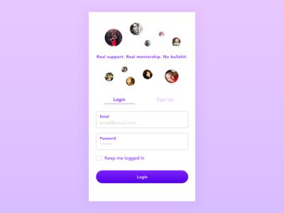 DailyUI 1 - Login for Women's Mentoring App