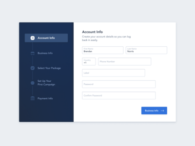 Sign Up Modal sign up ux ui