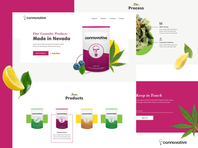 Cannavative fresh flavor plants products cannabis marijuana web design website web