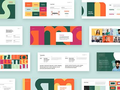Mismo Rebrand style guide brand book typography brand identity brand design branding colors