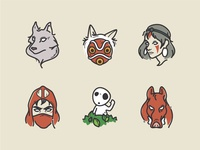 Princess Mononoke Icons