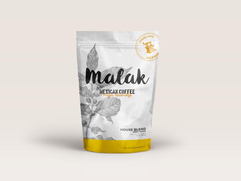 Malak | Mexican coffee brand package design logo branding brand identity packaging coffee